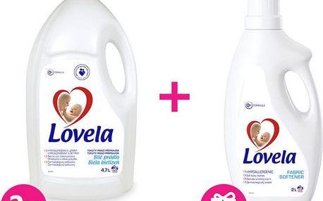 2x LOVELA Color prací gel 4,7 L (50 dávek) + Lovela aviváž 2 L