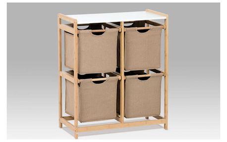 Regál bambusový 4-šuplíky DR-016B Autronic