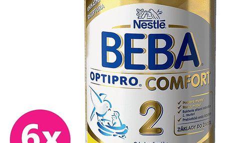 6x NESTLÉ BEBA OPTIPRO Comfort 2 (800 g) – kojenecké mléko
