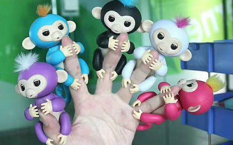 MEGA HIT - interaktivní opička Fingerlings v několika barvách
