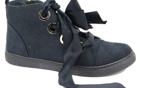 Dámské kotníkové boty RIBBON tmavě modré