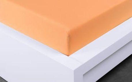 XPOSE ® Jersey prostěradlo dvoulůžko - meruňková gramaž 150g/m 200x220 cm