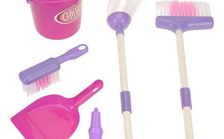 Dětský úklidový set Pink, sada 7 ks