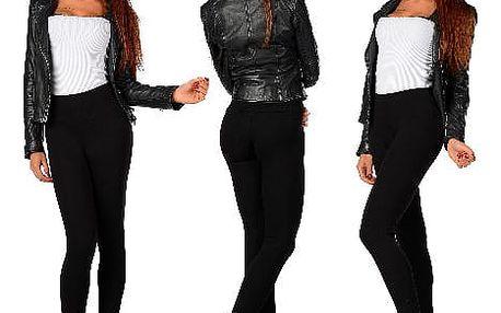 Elegantní dámské zateplené kalhoty černé VOGUES