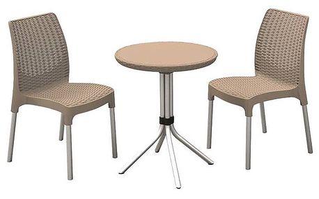 Ratanový nábytek Allibert Chelsea set cappuccino + Doprava zdarma