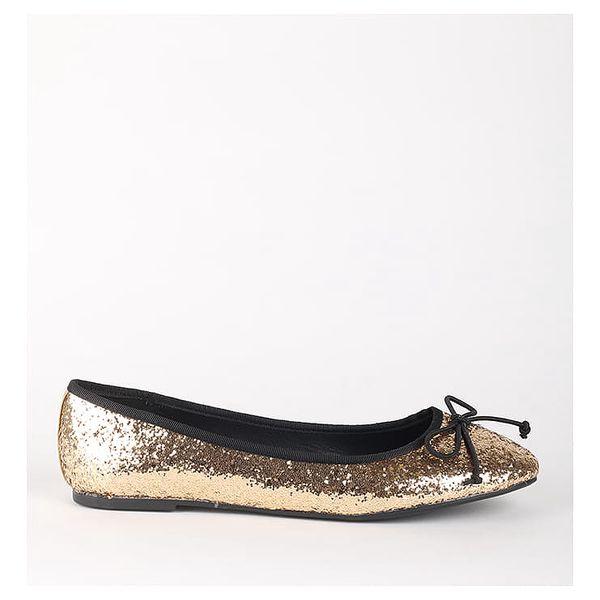 Balerínky Primadonna Calzatura Ballerina Glitter Orog Zlatá