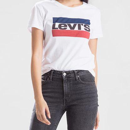 Tričko LEVI'S The Perfect Tee Sportswear Logo White Bílá