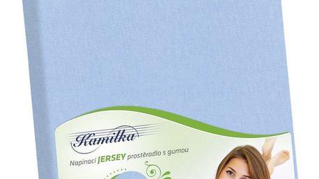 Bellatex Jersey prostěradlo Kamilka světle modrá, 140 x 200 cm