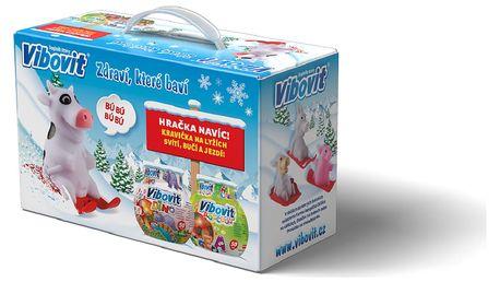 Vibovit Vánoční balení Dino 50 želé + Abeceda 50 želé + Kravička