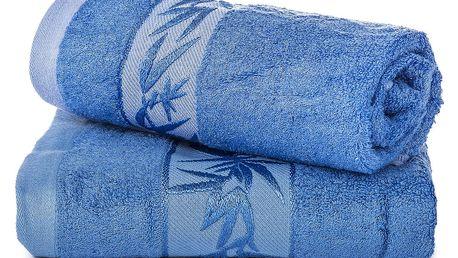 Jahu dárková sada ručníků bambus Hanoi modrá