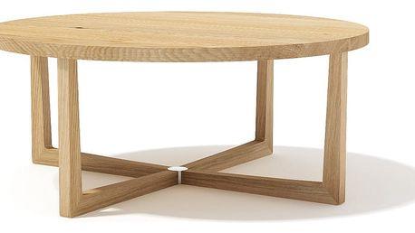 Konfereční stolek z masivního dubového dřeva Javorina Xstar, průměr 90cm - doprava zdarma!