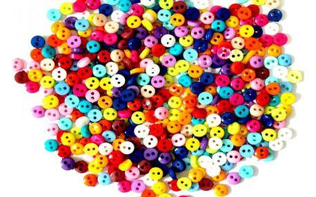 Barevné mini knoflíky - 600 kusů