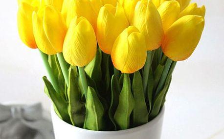 Sada 10 umělých tulipánů - 17 barev