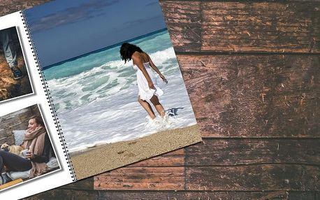 Fotokniha A4 s vašimi fotografiemi v kroužkové vazbě a s 12, 24, 48, 72 nebo 92 stranami