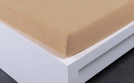 XPOSE ® Froté prostěradlo Exclusive dvoulůžko - béžová 160x200 cm