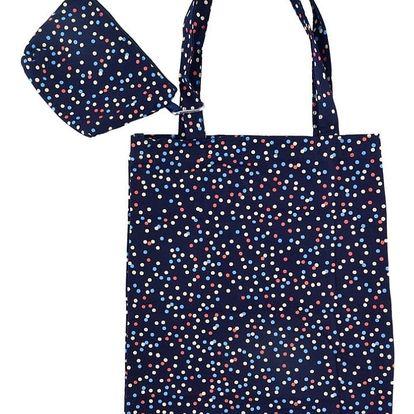 Tmavě modrá nákupní taška Busy B Spots Shopper