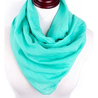 Jednobarevný dámský šátek - 22 variant