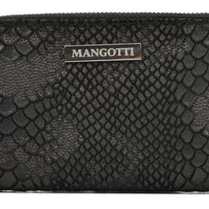 Černá kožená peněženka Mangotti Amanda