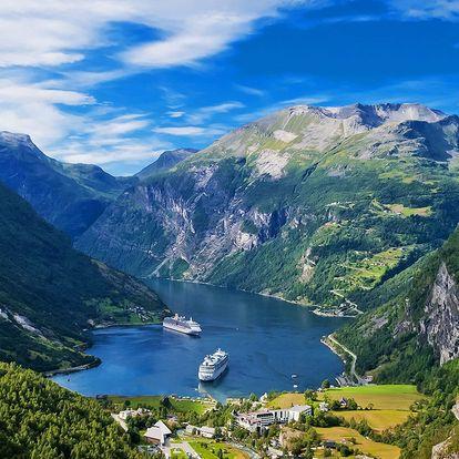 Norsko včetně Oslo: doprava, ubytování, snídaně