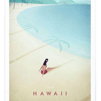 Plakát Travelposter Hawaii, A3