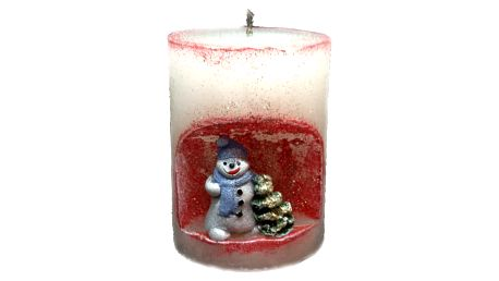 svíčka sněhulák