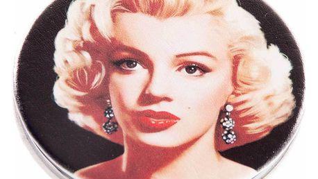 Kapesní kulaté zrcátko Marilyn Monroe Face kovové