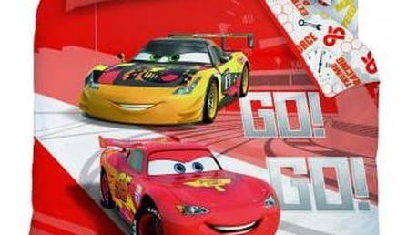 CTI Dětské bavlněné povlečení Cars Go Go Go, 140 x 200 cm, 70 x 90 cm