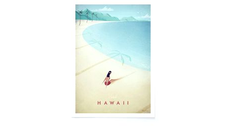 Plakát Travelposter Hawaii, A3