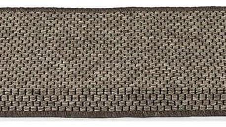 VOPI Nášlap na schody Nature obdelník tmavě béžová, 25 x 80 cm