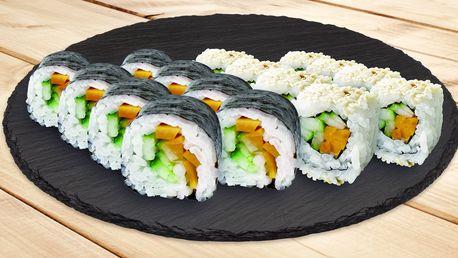 16 nebo 32 kousků sushi s čerstvou zeleninou