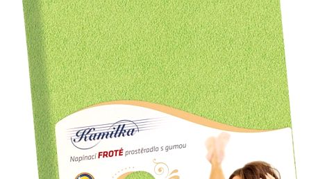 Bellatex Froté prostěradlo Kamilka olivová, 200 x 220 cm