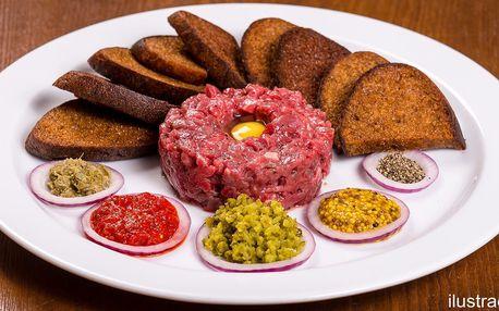 Tatarák s porcí topinek až pro 3 osoby