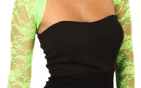 Dámské krajkové bolerko neon zelená