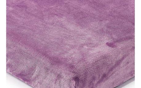 4Home prostěradlo mikroflanel světle fialová, 90 x 200 cm, 90 x 200 cm