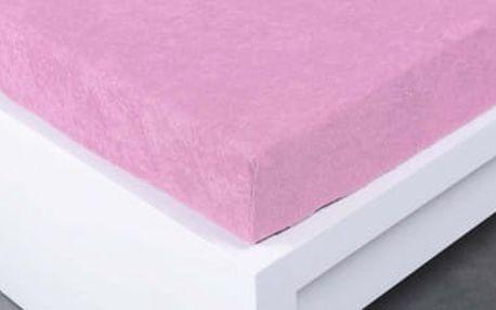 XPOSE ® Froté prostěradlo Exclusive dvoulůžko - levandulová 140x200 cm