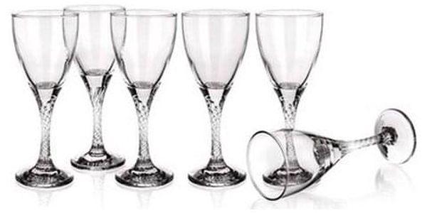 VETRO-PLUS Sada sklenic na bílé víno TWIST 180 ml, 6 ks