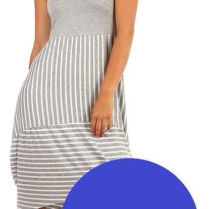 Letní plážové šaty s balonovou sukní modrá