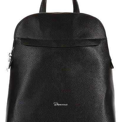 Větší koženkový batoh černá