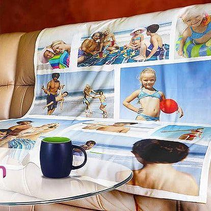 Fleecová deka z vlastních fotek pro vás, děti i mazlíčka v různých rozměrech