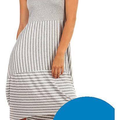Letní šaty s balonovou sukní modrá