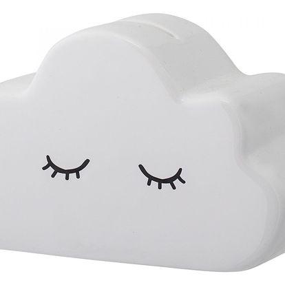 Bloomingville Pokladnička Cloud, bílá barva, porcelán