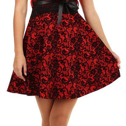 Dvoubarevné áčkové šaty s krajkou černá