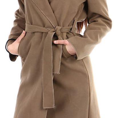 Dámský fleecový kabátek s kapucí hnědá