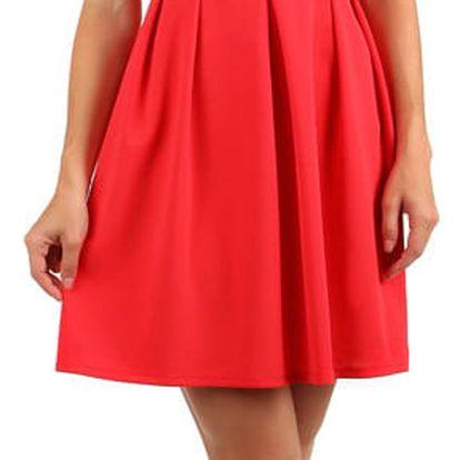 Šaty s dvojitými ramínky růžová