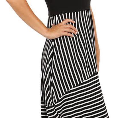 Letní šaty s balonovou sukní černá