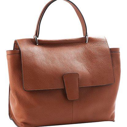 Hnědá kabelka z pravé kůže Andrea Cardone Sylvia - doprava zdarma!