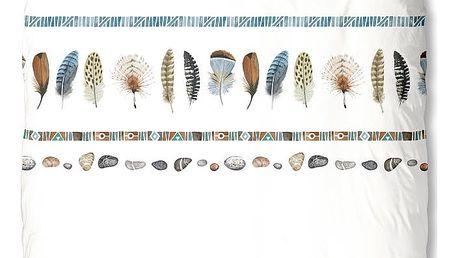 Bílé bavlněné povlečení na jednolůžko Muller Textiels Boho,140x200cm