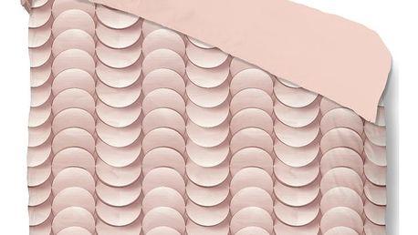Růžové bavlněné povlečení na jednolůžko Muller Textiels Emerged,140x200cm