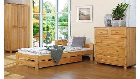 Postelový komplet IRENA MAX 100x200 cm z masivní borovice