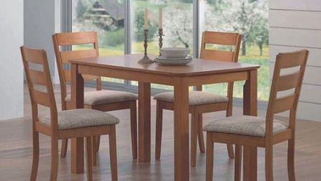 Jídelní stůl MAREK + židle BÁRA